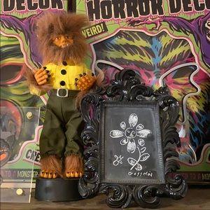 Upcycled Chalkboard Black Victorian Tabletop Frame